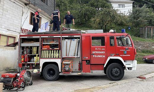 Das Kärntner Feuerwehrauto rückt jetzt in Bosnien zu Einsätzen aus.