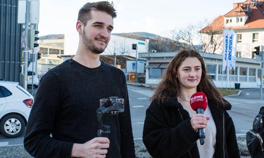 Christina Fink und Eric Prem spazierten mit der Kleinen Zeitung durch Weiz