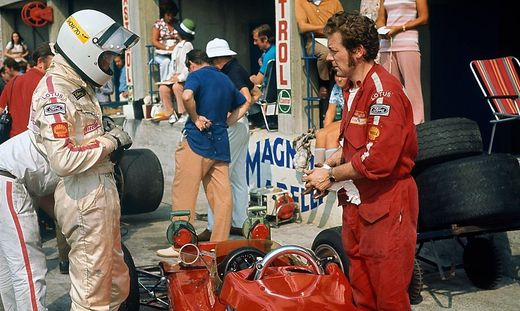 1970 Italian Grand Prix. Monza, Italy. 4th - 6th September 1970. Jochen Rindt (Lotus 72C-Ford), DNS, during practice be