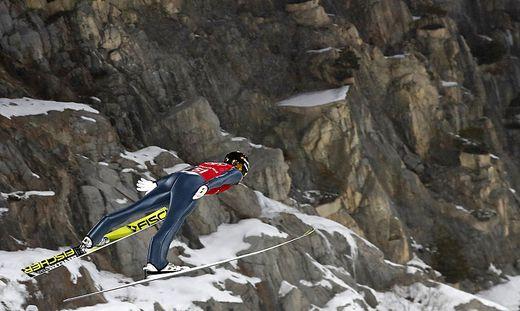 Johannes Rydzek sprang im ersten Durchgang die Bestweite