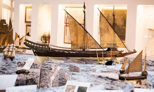 Schiffstypen im Lauf der Jahrhunderte werden im Modell gezeigt