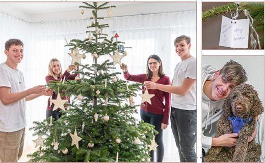 """""""Steirer helfen Steirern"""": Familie Hofinger, Felix mit Ally"""