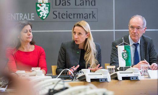 Landesräte Kampus, Bogner-Strauß und Amtsdir. Hirt