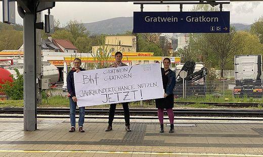 """Thomas Frewein, Michael Feldgrill und Johanna Tentschert machen auf die """"Jahrhundertchance"""" aufmerksam"""