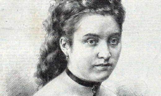 Amalie Materna porträtiert in einer Musikzeitung von 1876