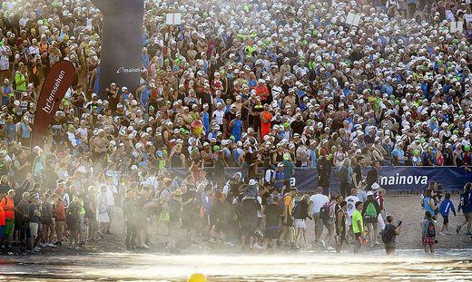 Bei drückender Hitze fand die Ironman-EM in Frankfurt statt