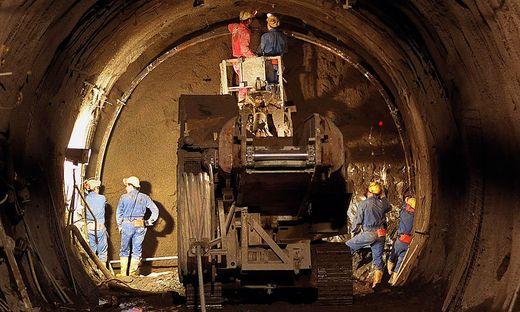 Blick in den Semmering-Basistunnel