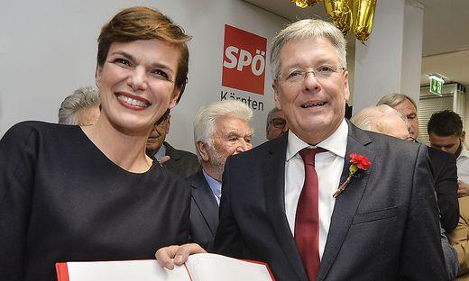 Bundesparteichefin Rendi-Wagner und Peter Kaiser, Kärntner SPÖ-Chef