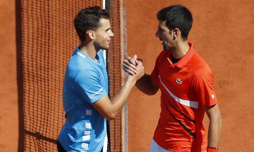 Dominic Thiem, Novak Djokovic