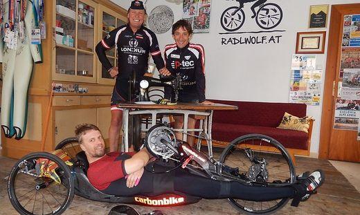 Helmut Jost mit Wolfgang Dabernig und Michi Kurz