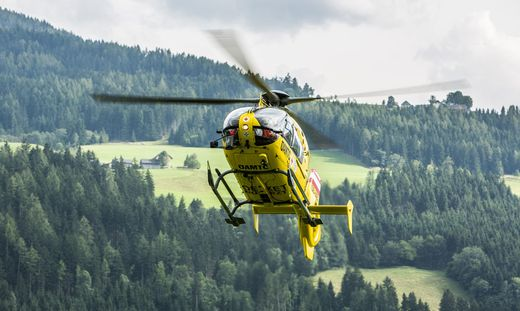 Mit dem Rettungshubschrauber C 14 wurde der Schwerverletzte abtransportiert
