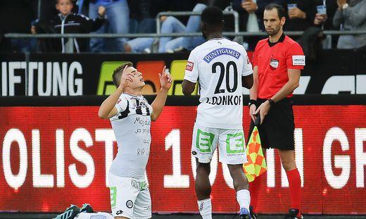 Ivan Ljubic (links) traf im Herbst gegen Salzburg