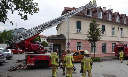 Brand am Sparkassenplatz