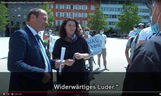 Eine Frau, die sich nicht unterbrechen lässt, empfindet der Landesrat Josef Geisler als Luder.