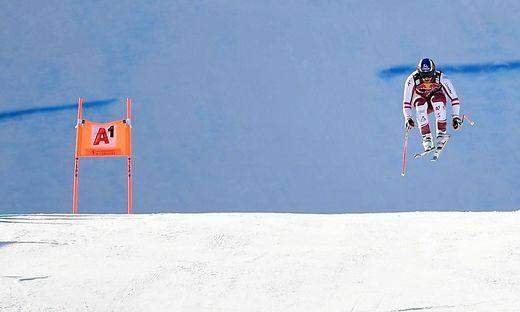 Der Zielsprung in Kitzbühel ist nach dem gestrigen Sturz von Urs Kryenbühl Gegenstand vieler Diskussionen