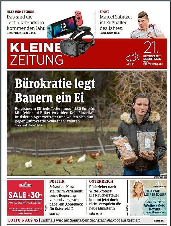Am   Berichtete Kleine Zeitung Uber Den Fall Von Elfriede Terler Foto Kk