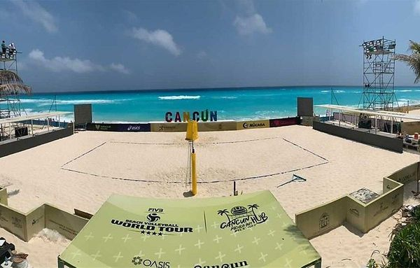 Der Center Court en Cancún