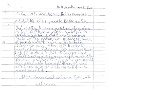 Prägraten Kinder Schrieben Briefe An Den Bürgermeister