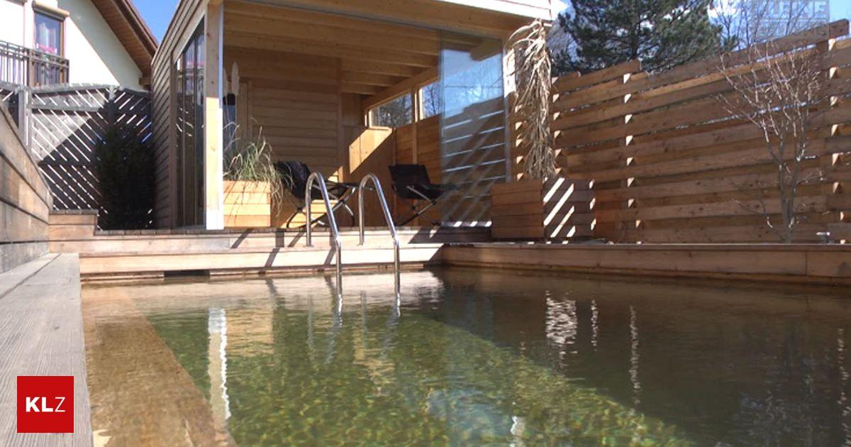 video ein swimmingpool aus holz der ein leben lang h lt. Black Bedroom Furniture Sets. Home Design Ideas