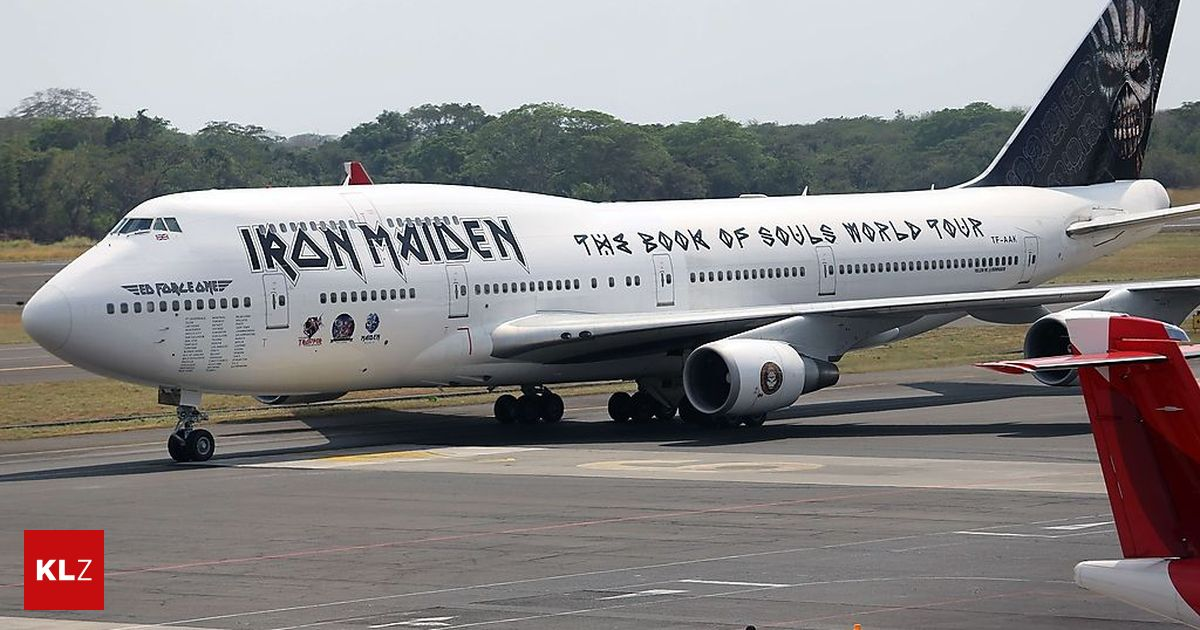 am flughafen flugzeug von iron maiden in chile besch digt. Black Bedroom Furniture Sets. Home Design Ideas