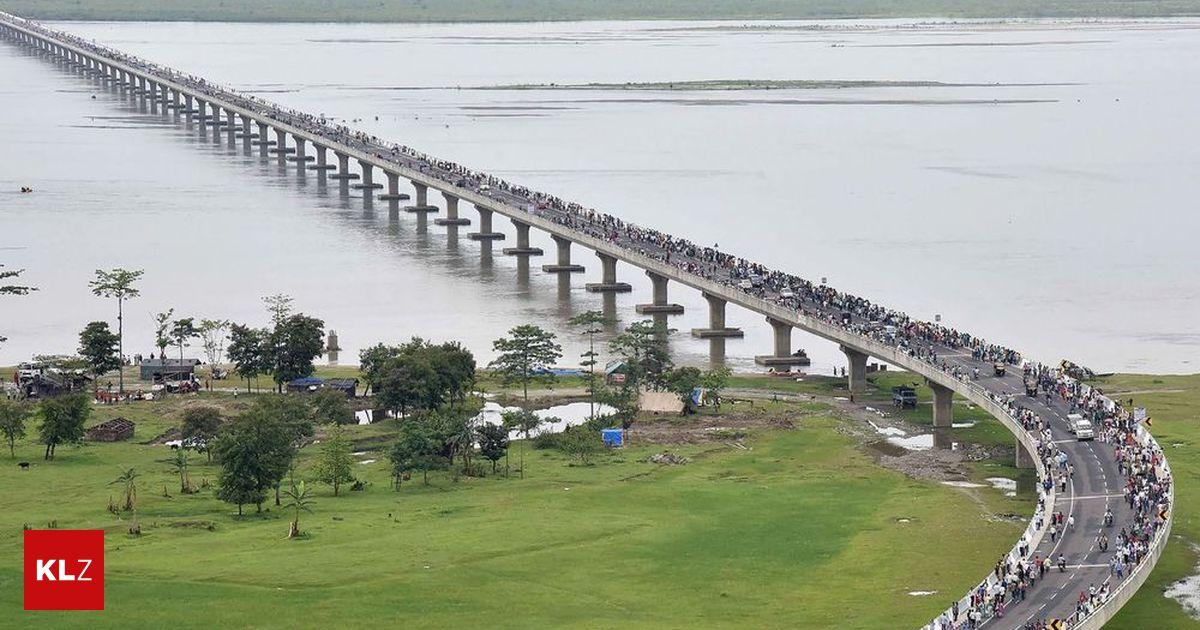Indien eröffnete längste Straßen- und Bahnbrücke