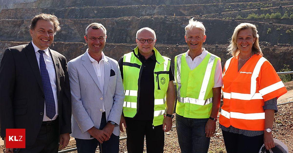 Tunnelforschung: Minister Hofer besuchte