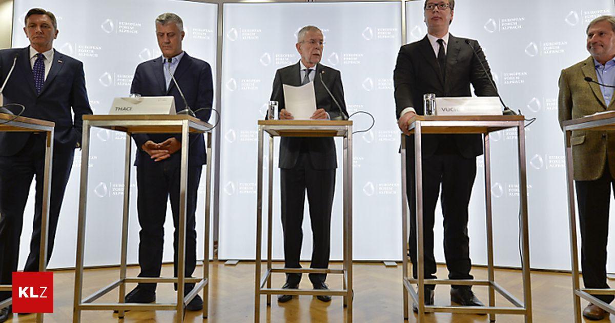 Konfliktlösung: Vucic und Thaci bekräftigen Entschlossenheit