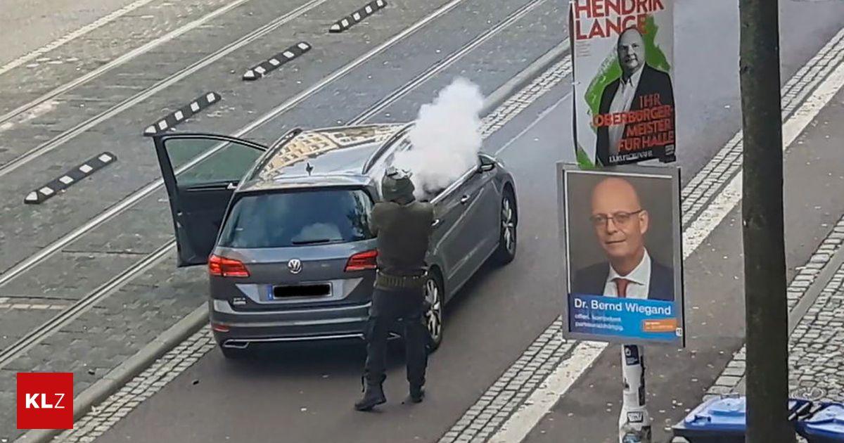 Rechter Terror in Halle: Maskierter erschoss zwei Menschen und filmte Tat