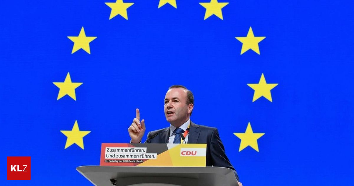 """EVP-Spitzenkandidat : Weber: """"Ich will ein Europa, das sich ums Große kümmert"""""""