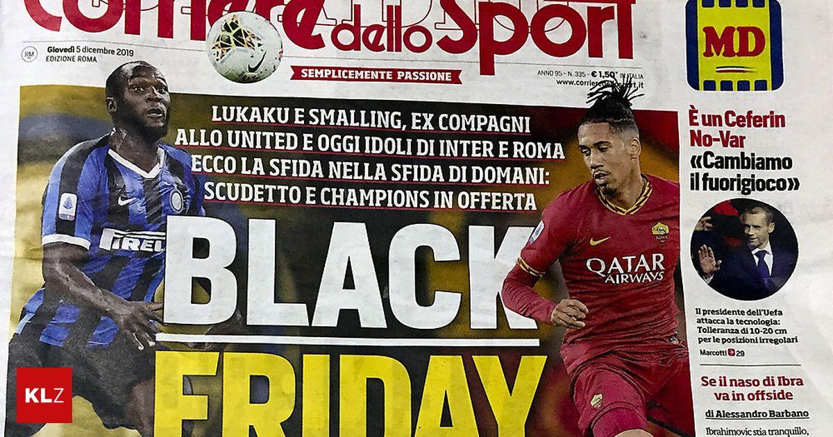 Vor SpitzenspielRassismus-Aufregung wegen italienischer Sportzeitung