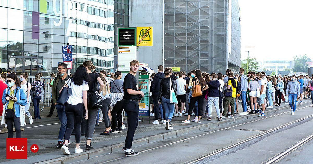 Mediziner-Aufnahme-Test: 2768 rittern um 360 Plätze: Enormer Andrang vor Grazer Stadthalle