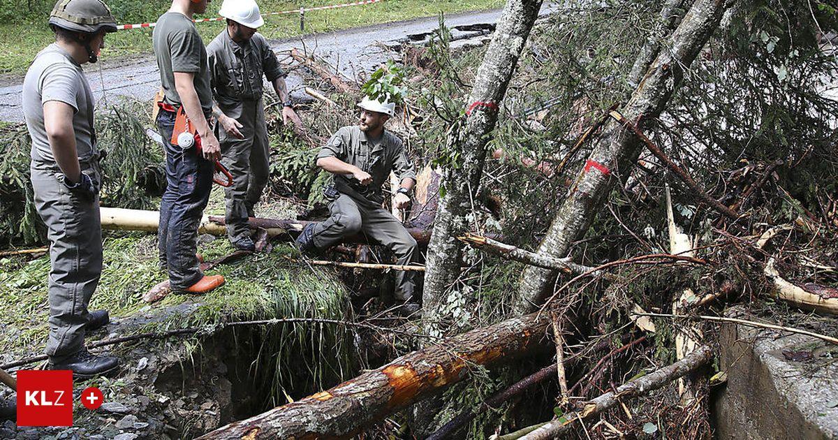 Unwetter: 40 Bundesheer-Pioniere in Gasen angekommen